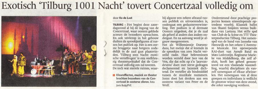 Krantenartikel Tilburg 1001